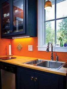25 best ideas about orange kitchen on pinterest orange With kitchen cabinets lowes with orange and blue wall art