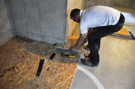 install subfloor the basement project installing dricore subfloor suburble