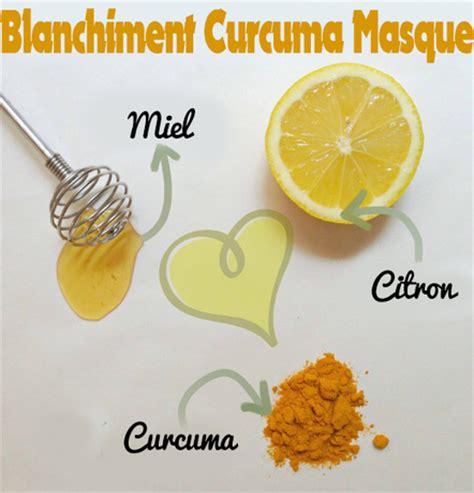 masque pour le visage fait maison curcuma masque visage recettes masque visage