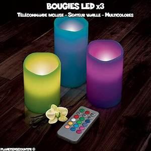 Bougies Parfumées Pas Cher : achat vente pack bougies parfum es led x3 avec t l commande pas cher ~ Teatrodelosmanantiales.com Idées de Décoration