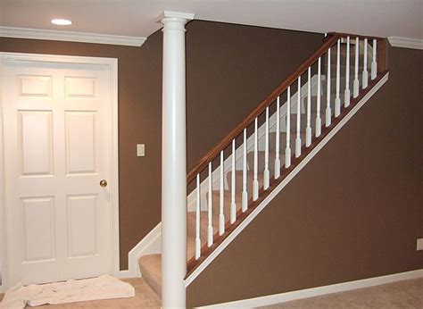 Finishing Basement Stairs Ideas by How To Change A Staircase Going Into Basement Google