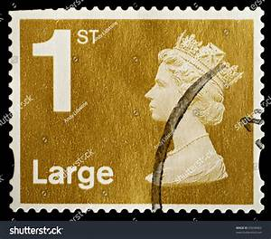 united kingdom circa 2006 an english used first class With large letter stamp