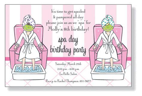 spa party invitations  inviting company