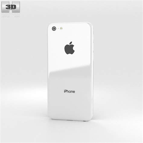 iphone 5c white apple iphone 5c white 3d model humster3d