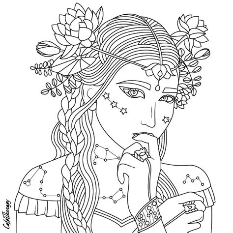 beauty coloring page beautiful women coloring pages