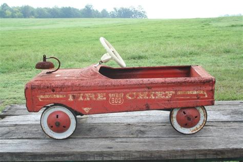 Vintage Antique Pedal Car Amf Fire Chief