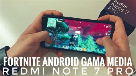 jugando fortnite android en redmi note  pro prueba real