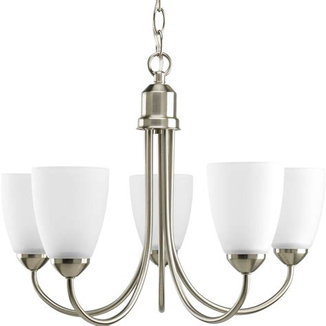 Chandeliers Lighting Collections by Progress Lighting Gather 20 5 In 5 Light Brushed Nickel
