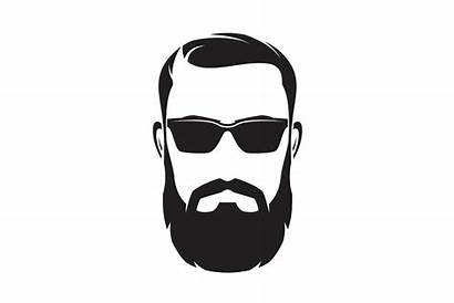 Hipster Face Bearded Silhouette Beard Icon Character