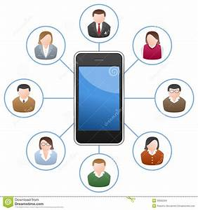 Smartphone Networking People Stock Vector - Illustration ...