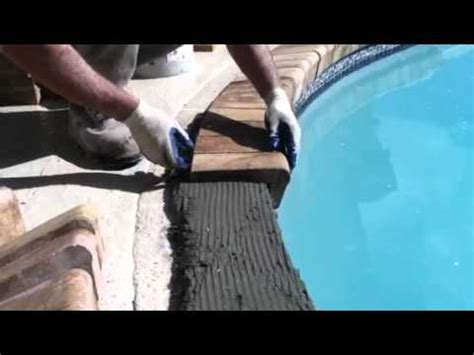installing brick coping   swimming pool youtube