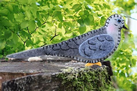 sweet mourning dove felt ornament pattern  images