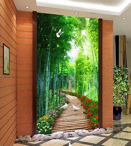 3d nature wallpapers Bamboo wooden bridge custom 3d photo ...