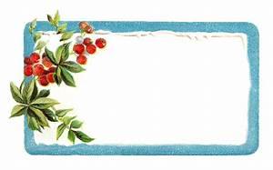 Antique Images: Printable Vintage Christmas Blue Labels ...