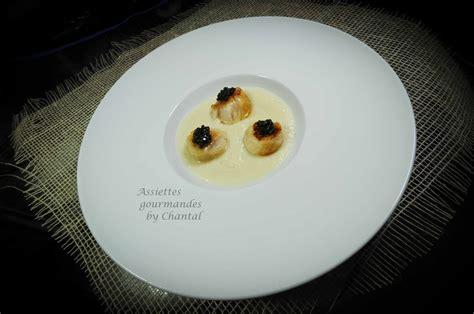 recette cuisine moleculaire crème de chou fleur velouté de chou fleur caviar et jacques