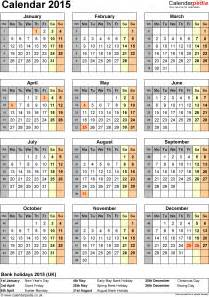 2014 2015 Calendar with Holidays
