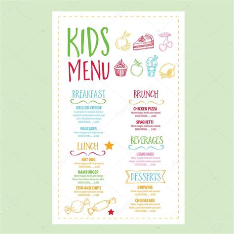 marchi cuisine restaurant cafe menu template design stock vector