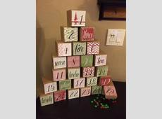 Christmas Advent Calendar Boxes Red Green Handmade Reuseable