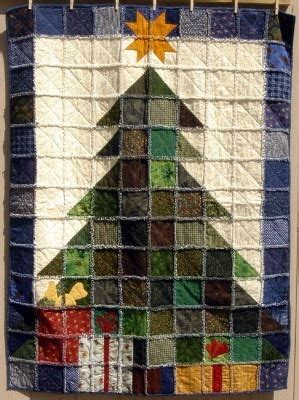 make a rag strip christmas tree tree rag quilt easy to make and uses up a lot of scraps of fabric you might