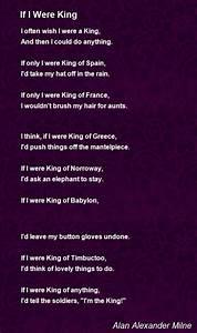 If I Were King Poem By Alan Alexander Milne