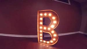 vintage marquee lights my letter b custom made lighted With lighted sign letters for sale