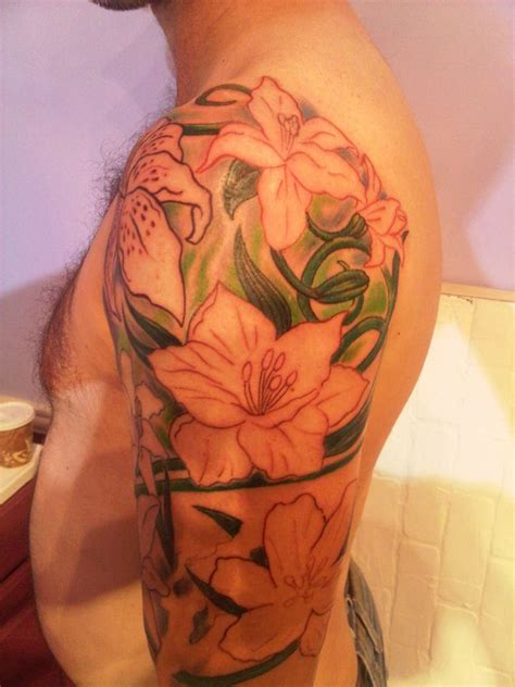 amazing orchid tattoos  men