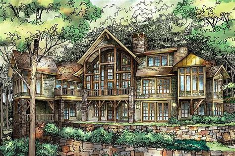 plan gg exceptional mountain home   mountain house plans architectural design