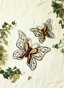 Deko Schmetterlinge Groß : wanddeko schmetterlinge 2er set gartendekoration brigitte hachenburg ~ Yasmunasinghe.com Haus und Dekorationen