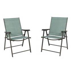 Stacking Outdoor Sling Chair by Set Of 2 Folding Chairs Sling Bistro Set Outdoor Patio