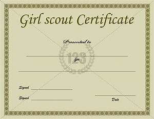printable girl scout certificate template With girl scout award certificate templates