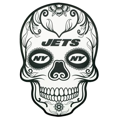 Applied Icon NFL New York Jets Outdoor Skull Graphic ...