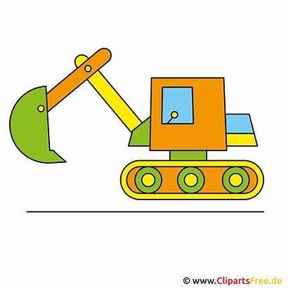 Bagger Clipart Clip Spielzeug Bild Escavatore Cliparts