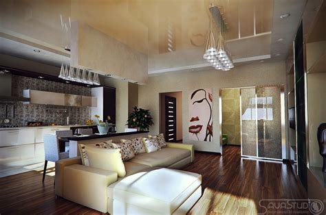 Contemporary apartment layout   Interior Design Ideas.