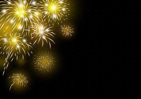 gold fireworks background illustrations creative market