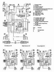Volvo 740  1990  - Wiring Diagrams - Turn Signal Lamp
