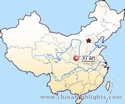xian map xian city map