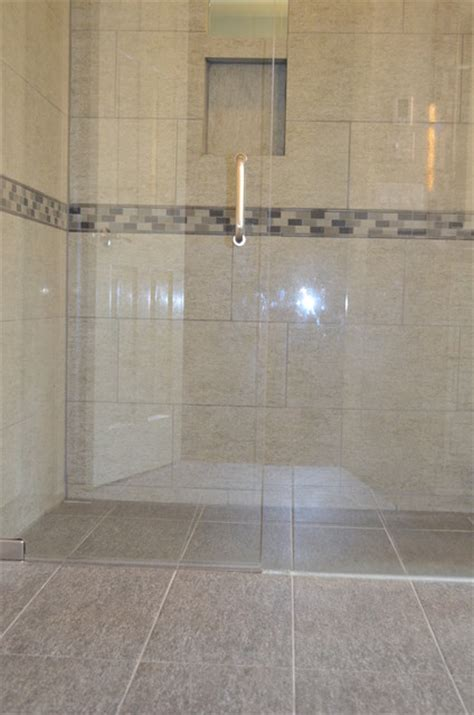 entry shower contemporary bathroom cincinnati