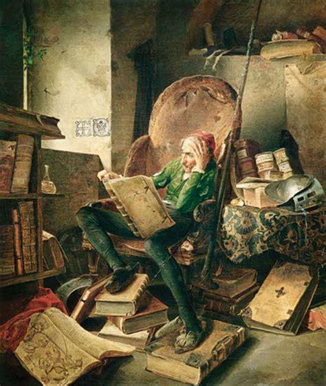libreria don chisciotte mestre don quijote leyendo libros de caballerias estilos de