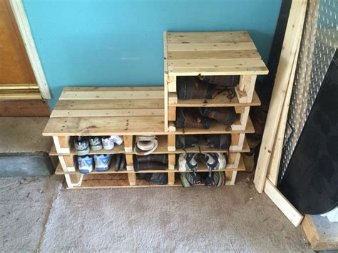 garage shoe rack bench     wood pallets diy