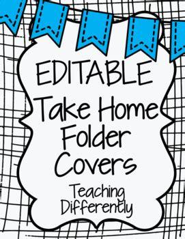 editable student binder homework folder covers banners
