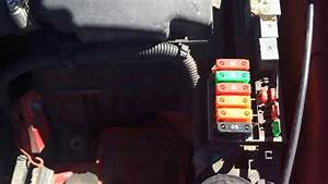 Chevy Cavalier 1995-2005 Main Fuse Box Location