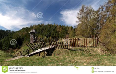 ancient wooden fort stock photo image  middleages fort