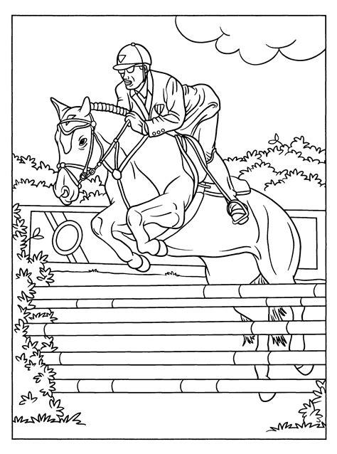 Omdat zoveel mensen op zoek gaan naar een paarden kleurplaat, hebben wij er heel veel in ons aanbod. Elegante Kleurplaten Paarden Springen | Krijg duizenden ...