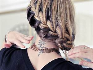 Hair Tutorial / Pretty Side French Braid low Updo ...
