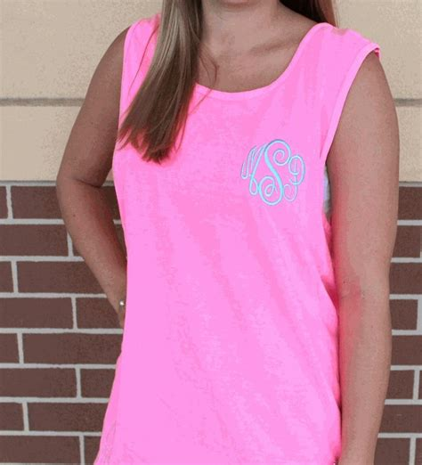 comfort color tanks 13 best images about monogram on tank