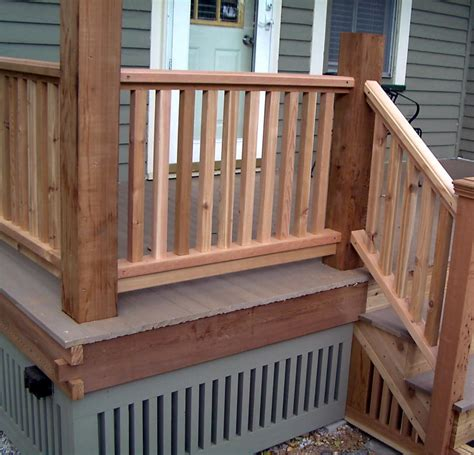 Porch Railing Wood - monterey wood porch railing ideas design ideas