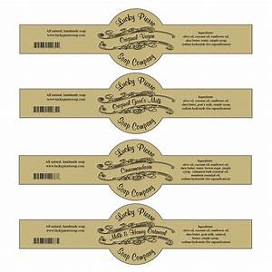 free printable cigar band soap label template soap With custom soap band labels