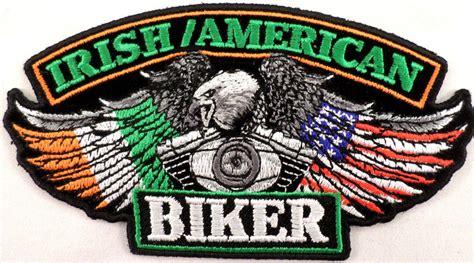 Irish American Eagle Biker Motorcycle Uniform Patch