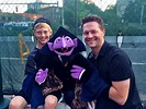 Matt Vogel and The Count with his son Jack right handing ...