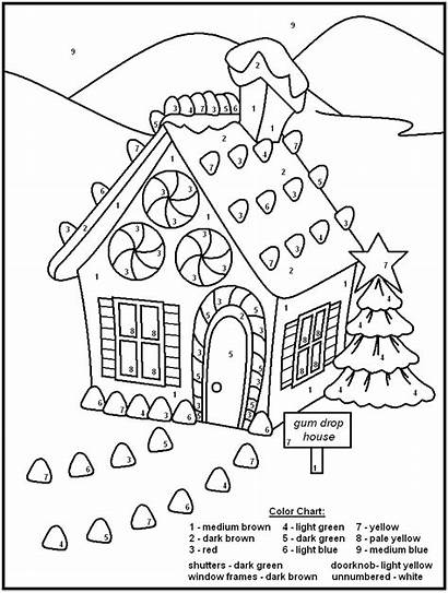 Christmas Numbers Coloring Pages Holidays